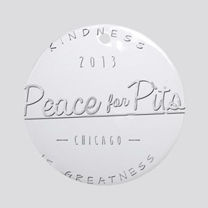 Peace for Pits Gifts Round Ornament