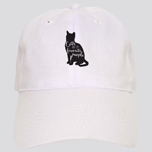 Cats are my favorite people Baseball Cap