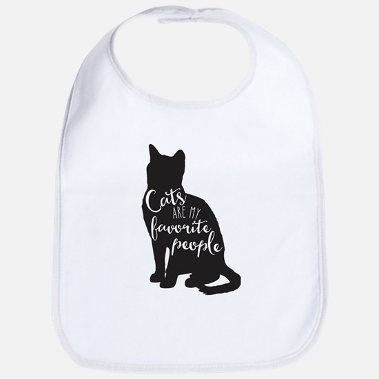 Cats are my favorite people Baby Bib