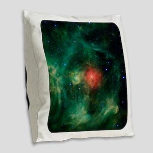 Space - Galaxy - Stars Burlap Throw Pillow