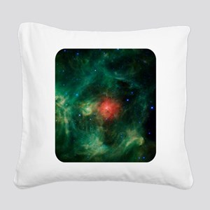 Space - Galaxy - Stars Square Canvas Pillow
