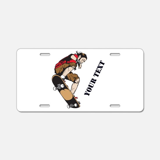 Personalized Skateboarder Aluminum License Plate