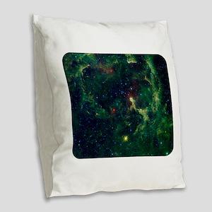 Space - Universe - Stars Burlap Throw Pillow