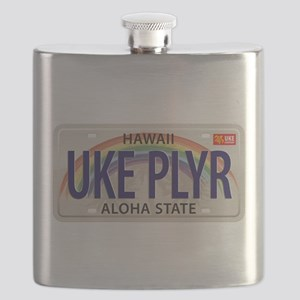 US Uke License Plate Flask