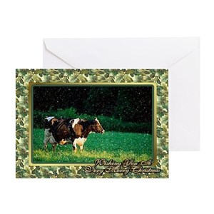 Cow Christmas Greeting Cards - CafePress