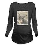 Doberman Pinscher Long Sleeve Maternity T-Shirt