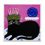 St Lucia Black Cat ART Tile