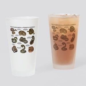 Rattlesnakes of North America Drinking Glass
