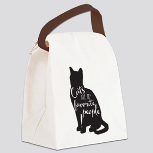 Cats are my favorite people Canvas Lunch Bag