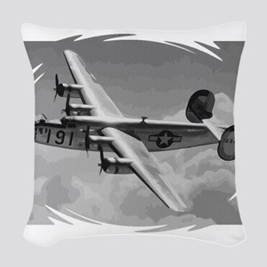 B-24 Liberator Woven Throw Pillow