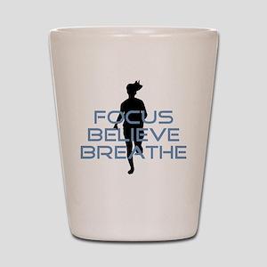 Blue Focus Believe Breathe Shot Glass