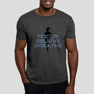 Blue Focus Believe Breathe Dark T-Shirt