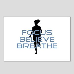 Blue Focus Believe Breathe Postcards (Package of 8