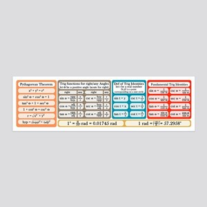 Trig Equations 36x11 Wall Decal