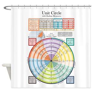 Unit Circle Shower Curtains