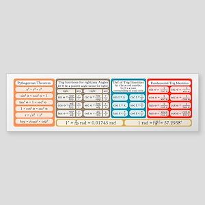 Trig Equations Sticker (Bumper)