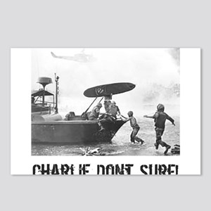 """""""Charlie Don't Surf"""" Postcards (Package of 8)"""