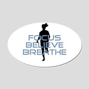Blue Focus Believe Breathe Wall Decal