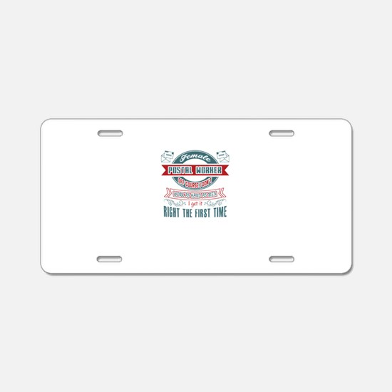 Postal Worker Jobs Aluminum License Plate