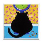 FAT Black CAT On Scale ART Tile
