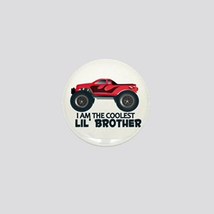 Coolest Lil' Brother Truck Mini Button