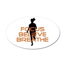 Orange Focus Believe Breathe Wall Sticker