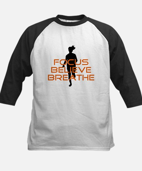 Orange Focus Believe Breathe Kids Baseball Jersey