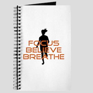 Orange Focus Believe Breathe Journal