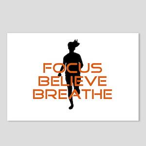 Orange Focus Believe Breathe Postcards (Package of