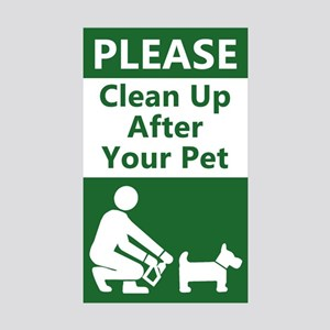 10-PACK Clean Up After Your Dog Sticker