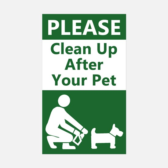 10-PACK Clean Up After Your Dog Decal