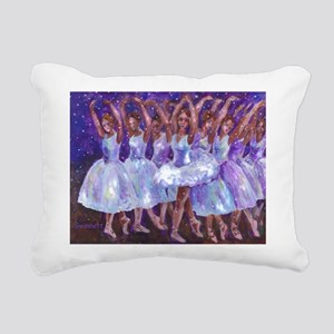 Nutcracker Snow Dance Rectangular Canvas Pillow