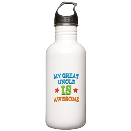 My Great Uncle Is awesome Stainless Water Bottle 1
