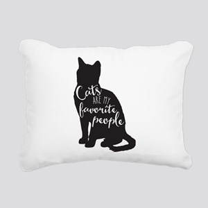 Cats are my favorite people Rectangular Canvas Pil