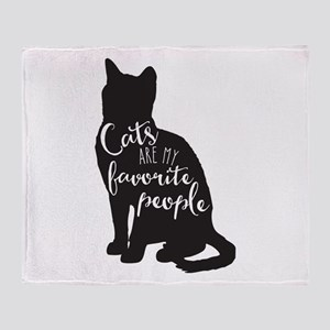 Cats Are My Favorite People Throw Blanket