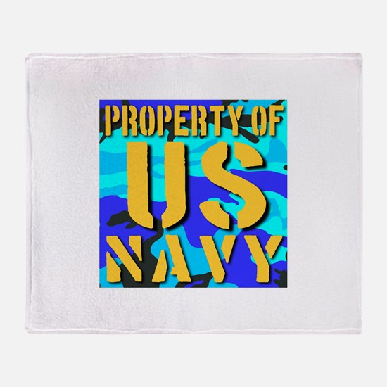 Property of US Navy Throw Blanket