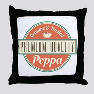 Vintage Poppa Throw Pillow