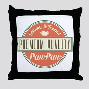 Vintage PawPaw Throw Pillow