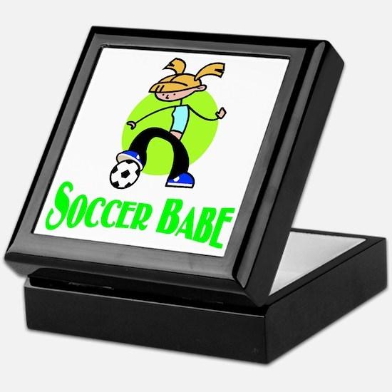 Soccer Babe Keepsake Box