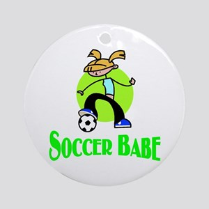 Soccer Babe Ornament (Round)