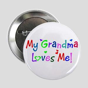 My Grandma Loves Me (des. #1) Button