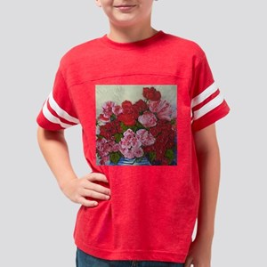 Red Roses and Pink Peonies Youth Football Shirt