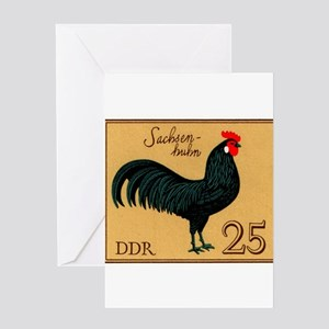 1979 Germany Saxonian Rooster Postage Stamp Greeti