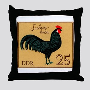 1979 Germany Saxonian Rooster Postage Stamp Throw