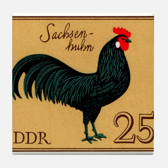 1979 Germany Saxonian Rooster Postage Stamp Tile C