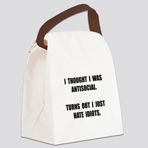 Antisocial Idiots Canvas Lunch Bag