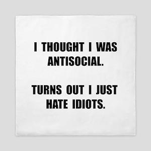 Antisocial Idiots Queen Duvet