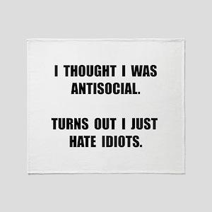 Antisocial Idiots Throw Blanket
