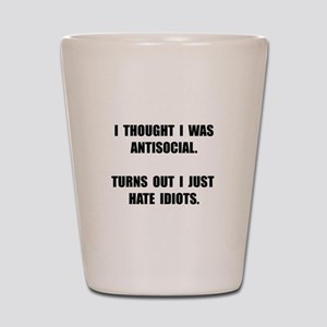 Antisocial Idiots Shot Glass