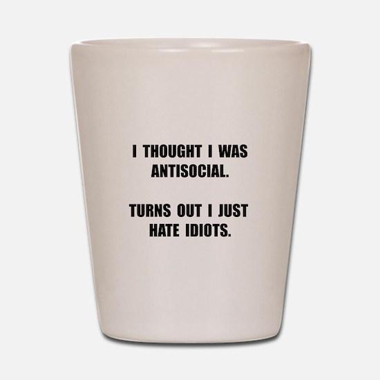 Antisocial Idiots Shot Glass